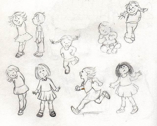 kids original 6x8 - Sketches Of Kids